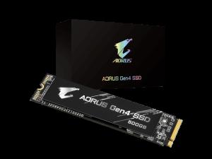 Gigabyte Aorus 500GB NVMe PCI-E Gen 4 (without heatsink) M.2 2280 Solid State Drive