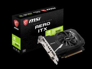MSI Geforce GT 1030 Aero ITX 2GD4 OC 2GB DDR4 PCIe 3.0 Nvidia Graphics Card
