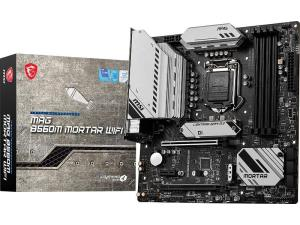MSI MAG B560M MORTAR WIFI Intel B560 Rocket Lake LGA 1200 Micro-ATX Desktop Motherboard