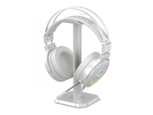 Redragon Lamia 2 USB Virtual 7.1 Surround RGB USB White Wired Gaming Headset with Headset Stand