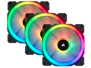 Corsair LL120 3x120mm RGB LED 1500RPM PWM Fan Triple Pack Desktop Case Fan