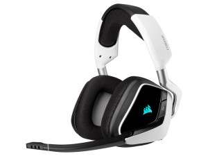 Corsair Void RGB Elite Wireless 7.1 Surround Sound White Premium Gaming Headset