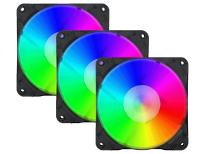 Redragon 3 x 120mm RGB LED Full Colour Fan Kit (Includes Fan Controller and Remote)