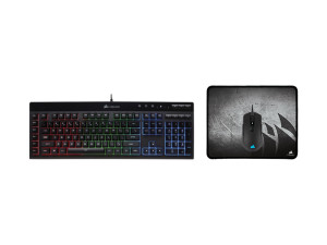 Corsair 3-in-1 Gaming Bundle (Includes K55 RGB Keyboard; M55 RGB Mouse; M300 Mouse Pad)