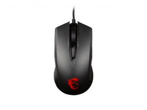 MSI Clutch GM40 Optical Red LED Wired Black Ambidextrous Gaming Mouse
