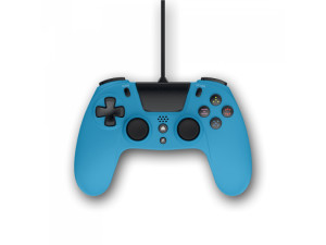 Gioteck VX4 PC & Playstion 4 Wired Blue Ergonomic Controller