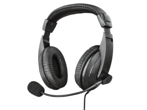 Trust Quasar Stereo Wired USB Black Headset