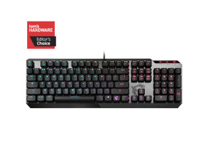 MSI Vigor GK50 Kailh Low Profile Switch RGB Brushed Aluminium Wired Mechanical Gaming Keyboard