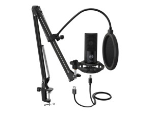 Fifine T669 Cardioid Black USB Condensor Microphone with Arm Desk Mount Kit