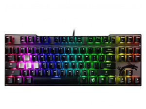 MSI Vigor GK70 RGB Cherry MX Red Switch Tenkeyless Wired Mechanical Gaming Keyboard
