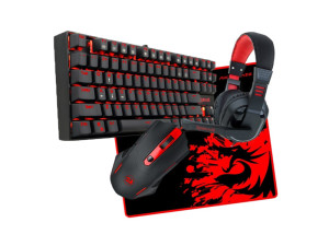 Redragon 4-in-1 Mechanical Keyboard Bundle (Keyboard: K552 Mouse: M601Headset: H101 Mouse Pad: ARCHELON-M)