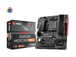 MSI B450M Mortar Max AMD AM4 Socket ATX Desktop Motherboard