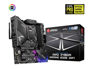 MSI MPG Z490M Gaming Edge WiFi LGA1200 Socket Micro-ATX Desktop Motherboard