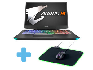 Gigabyte Aorus 15-SA - i7-9750H, 16GB, GTX 1660Ti, 512GB SSD, 15.6'' FHD 144Hz, Windows 10 Home Laptop