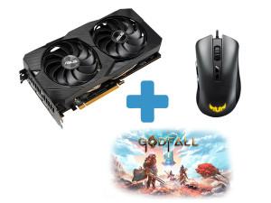 Asus Radeon Dual RX 5500XT Evo OC 4GB GDDR6 AMD Graphics Card + FREE Asus TUF Gaming M3 Mouse + FREE Godfall Game Code