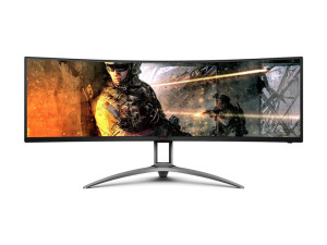 AOC AG493UCX 49'' Curved Super Ultra Wide, 1440p (5120 x 1440), 120Hz, HDR400, VA, 1ms, G-Sync and FreeSync with FreeSync Premium Pro Gaming Monitor