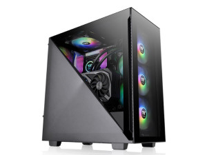 Thermaltake Divider 300 ARGB Tempered Glass Mid Tower Black PC Case
