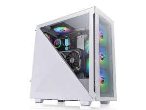 Thermaltake Divider 300 Snow ARGB Tempered Glass Mid Tower White PC Case