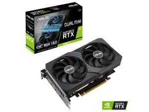 Asus Geforce DUAL RTX 3060 Ti MINI OC V2 8GB LHR GDDR6 PCIe 4.0 Nvidia Graphics Card