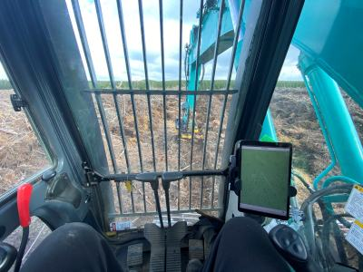 Precise manual and mechanised plant location recording using FPT