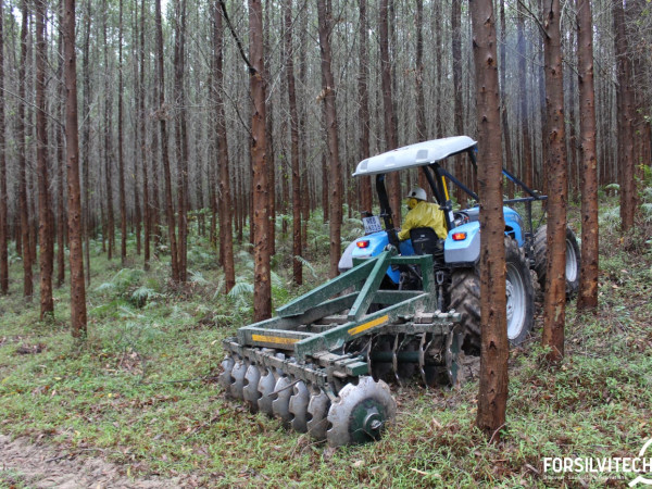 Tractor disking for fuel load management and weeding