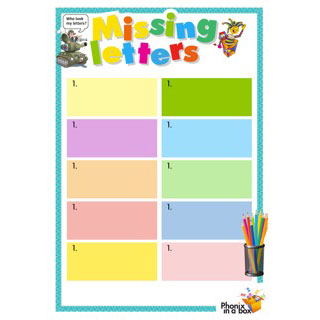 Grade 3 book: sh ch ti - Missing Letters