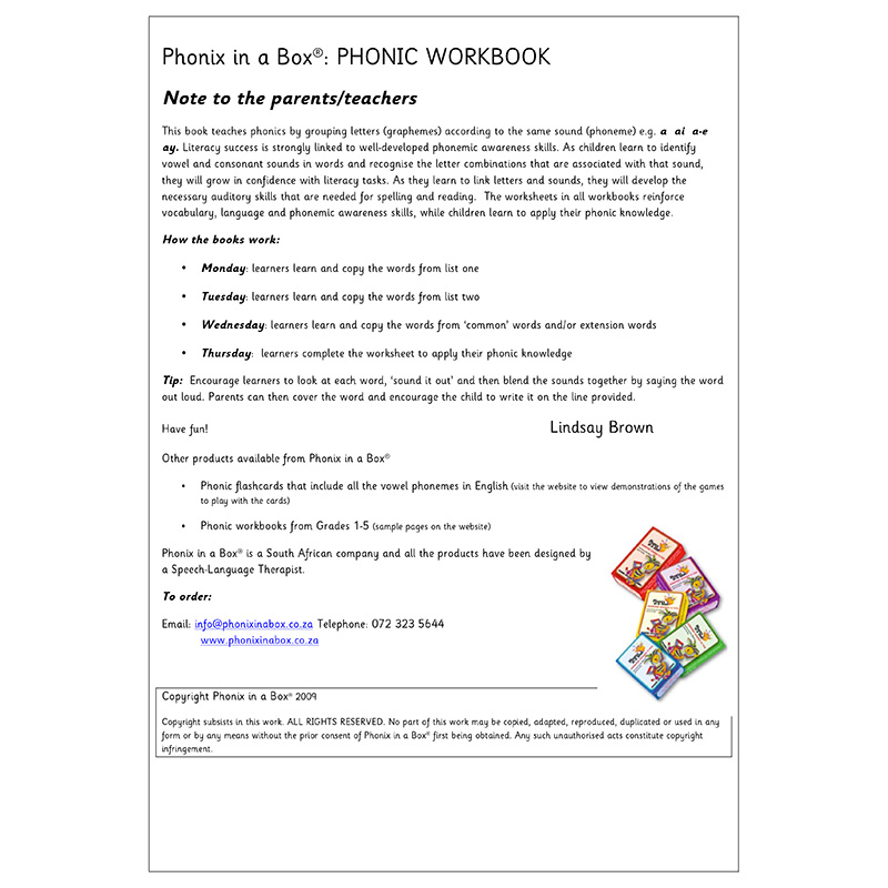 Grade 4 Phonic Workbook