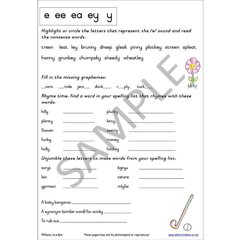 Grade 3 Phonic Workbook (Primary Font)