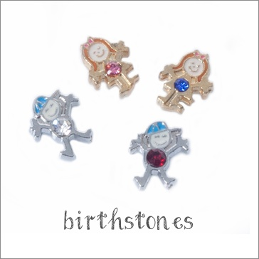Animated Kiddies Birthstones (Silver)