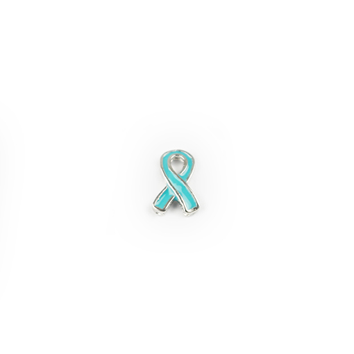 Light Blue/Aqua Support Ribbon Charm