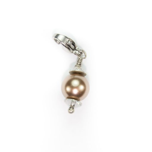 Bronzed Pearl Dangle with Swarovski Elements