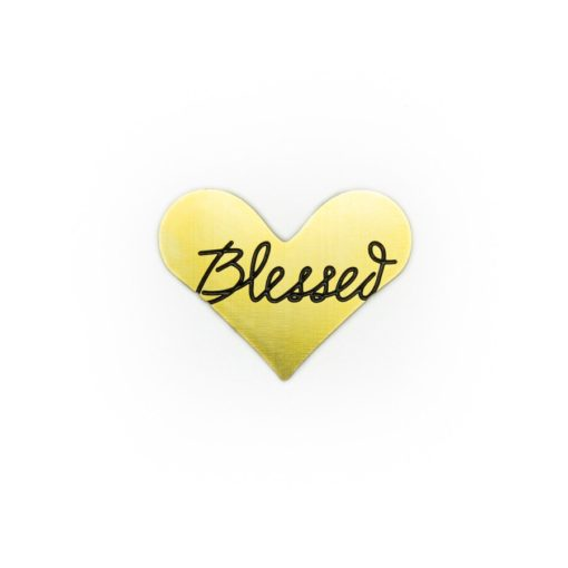 Blessed Heart Journey Plate (Gold)