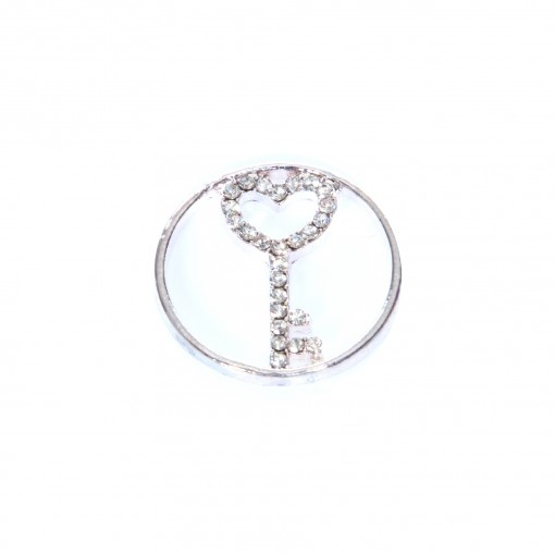 CZ Key to your Heart Glam Plate