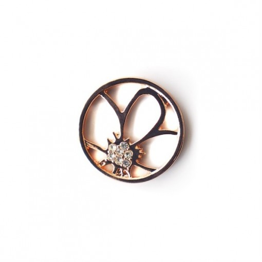 Flower Glam Plate - Large (Rose Gold)