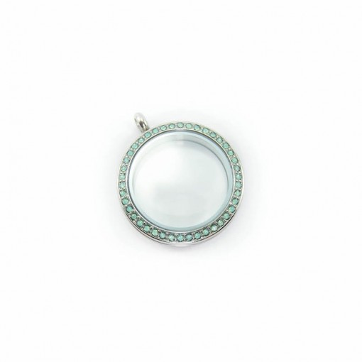 Opal Aqua Locket (Large)