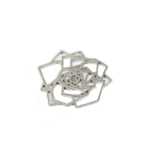 Filigree Rose Glam Plate - Large