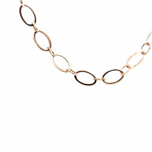Rose Gold Large Loop Chain - 81cm (Oval Lockets)