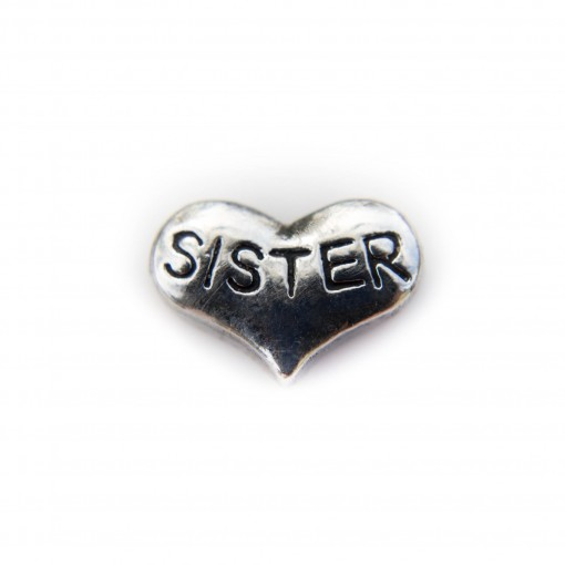 Silver Sister Heart