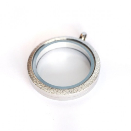 Silver Shimmer Locket (Large) - Twist Top