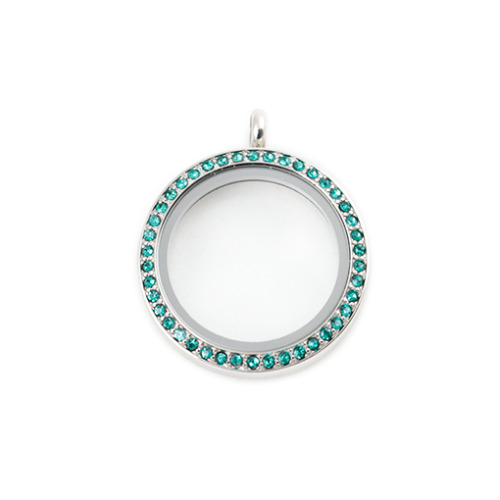 Ocean Blue Crystal Locket - (Large) LIMITED EDITION
