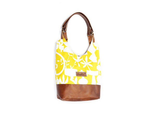 THREE Succulent Yellow Tote Bag