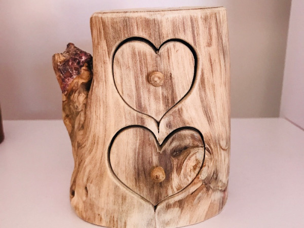 2 Drawer Heart Jewellery Box