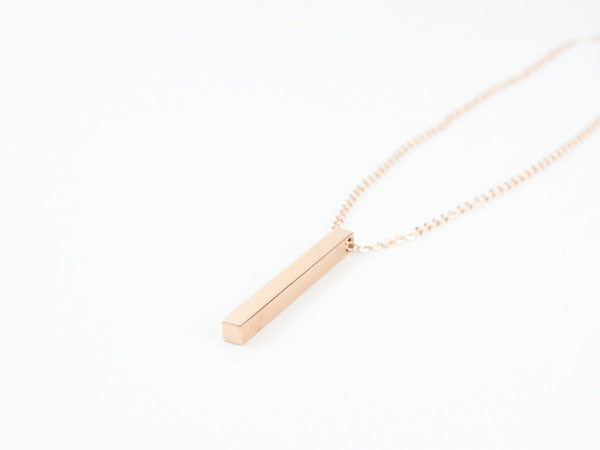 Tora Grace Reminders - Vertical Chunky Bar Rose Gold
