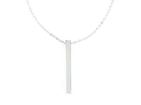 Tora Grace Reminders - Vertical Chunky Bar Silver