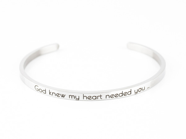 God knew my heart needed you...