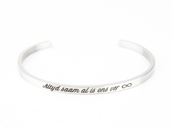 """Rooi Rose """"Altyd Saam"""" Bracelet"""