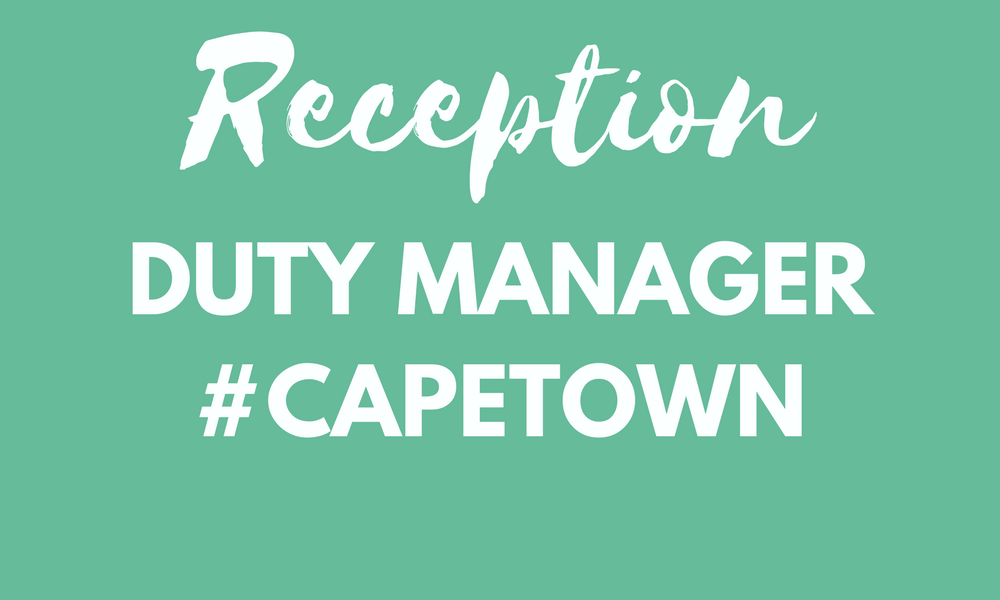 Reception Duty Manager Cape Town
