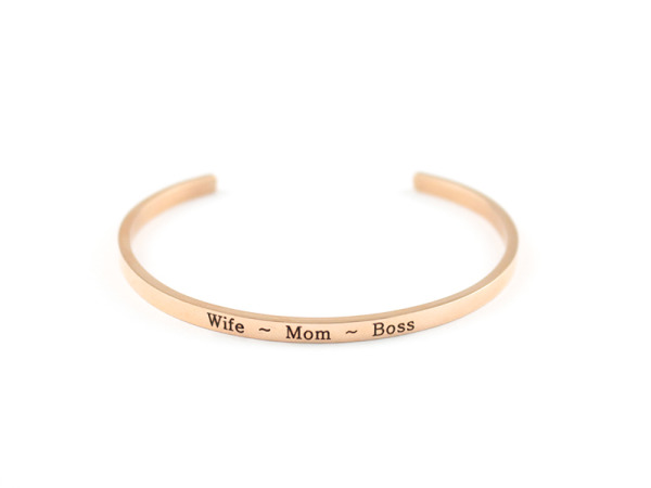 """Wife ~ Mom ~ Boss"" Bracelet"