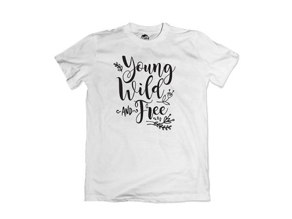 """Young Wild Free"" Kiddies T-Shirt"