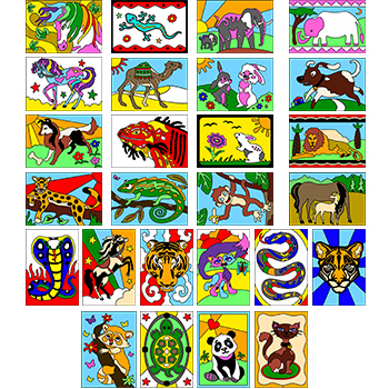 Animal Post Card Pack